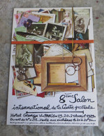 CPM Paris Hôtel Georges V - 8 ème Salon De La Carte Postale - 1979 Tampon Au Recto - Beursen Voor Verzamellars