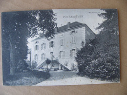 Cpa Pontanevaux ( La Chapelle De Guinchay )  !!! Non Légendée !!!!!!  Saône Et Loire 71 Cachet Lyon à Dijon 1907 - Other Municipalities