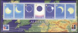 ALDERNEY  Block 6, Postfrisch **, Totale Sonnenfinsternis, 1999 - Alderney