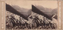 74 - CARTE STEREOSCOPIQUE LE GLACIER DES BOIS - Cartoline Stereoscopiche