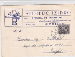 Portugal- Postal Comercial Circulou Para Pernes-1958 - Santarem