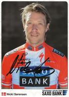 CARTE CYCLISME NICK SORENSEN SIGNEE TEAM SAXO BANK 2009 - Cycling