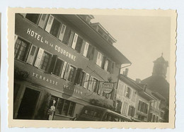Snapshot Id MORAT Hotel De La Couronne Suisse Swiss RARE - Lugares