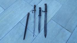 Lot De 3 Baïonnettes - Knives/Swords