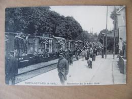 Cpa Pontanevaux ( La Chapelle De Guinchay ) Souvenir Du 3 Août 1914 Mobilisation Gare Train   Saône Et Loire 71 - Other Municipalities
