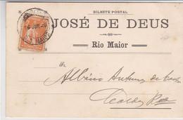 Portugal- Postal Comercial Circulou De Rio Maior Para Caldas Da Rainha  -1920 - Santarem