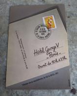 CPM Paris Hôtel Georges V - Salon International De La Carte Postale - 1979 - Vente Aux Enchères Timbre - Beursen Voor Verzamellars
