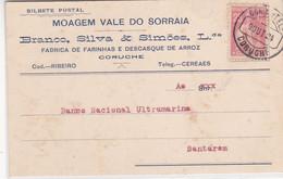 Portugal- Postal Comercial Circulou De Coruche Pra Santarem -1924 - Santarem