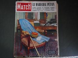 PARIS MATCH 1951 MORT DU MARÉCHAL PÉTAIN - 1950 - Oggi