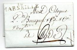 Lettre / De Marseille / Pour Agde / 15 Pluviose An 7 - 1801-1848: Voorlopers XIX