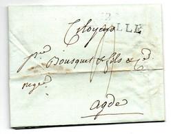 Lettre / De Marseille / Pour Agde / 1 Brumaire An 9 - 1801-1848: Voorlopers XIX