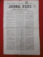TIMBRE TYPE NAPOLEON 1 C OLIVE SEUL SUR JOURNAL UZES 1868 TIMBRE IMPERIAL - 1849-1876: Klassieke Periode