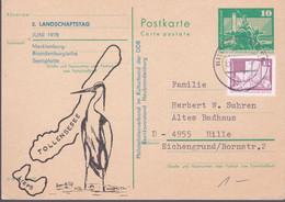 DDR 1978 Landschaftstag, Karte 1980 Hildburghausen - Postkarten - Gebraucht