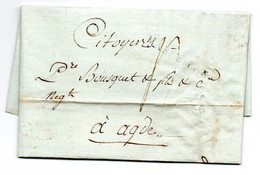 Lettre / De Marseille / Pour Agde / 19 Prairial An 9 - 1801-1848: Voorlopers XIX