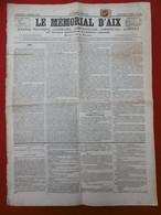 TIMBRE TYPE CERES 2 C BRUN SEUL SUR JOURNAL LE MEMORIAL D AIX  1866 TIMBRE IMPERIAL - 1849-1876: Klassieke Periode