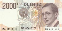 BANCONOTA ITALIA 2000 MARCONI UNC (VS847 - 2000 Lire
