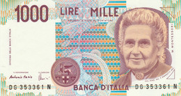 BANCONOTA ITALIA MONTESSORI 1000 UNC (VS849 - 1000 Liras