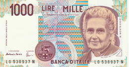BANCONOTA ITALIA MONTESSORI 1000 UNC (VS853 - 1000 Liras