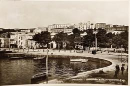 Cartolina - Pozzuoli ( Napoli ) - Banchina E Villa Comunale - 1950 - Napoli (Naples)