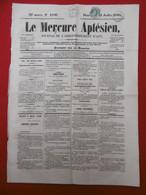 TIMBRE TYPE NAPOLEON 1 C OLIVE SEUL SUR JOURNAL LE MERCURE APTESIEN 1864 TIMBRE IMPERIAL - 1849-1876: Klassieke Periode