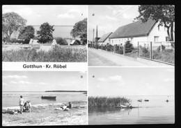 DDR AK 1980 Gotthun Bei Röbel Müritz, Zeltplatz Nitschow, Teilansicht, An Der Müritz - Roebel
