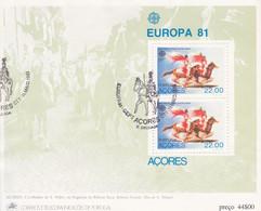 PORTUGAL - AZOREN - Blok 2 - FDC-afstempeling - Hojas Bloque