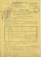 Dossier FRAUDE POSTALE Lettre D'AUTUN P / LA VILLETTE 1875 Ensemble De 10 Documents A VOIR - 1849-1876: Klassieke Periode