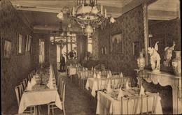 CPA Oostende Ostende Westflandern, Hotel Du Boulevard, Bd. Van Iseghem 23, Innenansicht - Autres