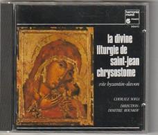 Cd  LA DIVINE LITHURGIE DE SAINT JEAN CHRYSOSTONE Chorale Sofia   :  Etat: Très Très Bon : - Classica