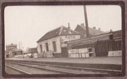 La Gare De AALTER Vers 1910 Photo Petit Format Environ 3 X 6 Cm - Lugares
