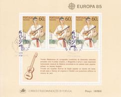 PORTUGAL - MADEIRA - Blok 6 Van 1985 - FDC-afstempeling - Hojas Bloque