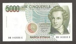 """Italia - Banconota Non Circolata FDS UNC Da 5.000 Lire """"Bellini"""" P-111b.1 - 1988 #19 - 5000 Liras"""