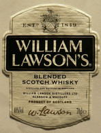 WILLIAM LAWSON'S, Blended Scotch Whisky, Bouteille De 70 Cl, 40°, TB. - Whisky