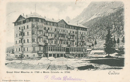 Italy - Cadore - Grand Hotel Misurina - Monte Cristallo - Belluno