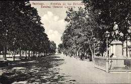 CPA Santiago De Chile, Avenida De Las Delicias, Estatua General Carrera - Chile