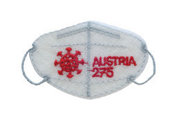 Austria - 2021 - Mini FFP2 Mask - Covid-19 - Mint Embroidered Stamp With Laser Die-cut - 2011-... Nuovi & Linguelle