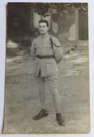 Carte Photo Soldat Avec 170 Au Col 170e RI Vaillant Ver Sur Launette - Guerre, Militaire