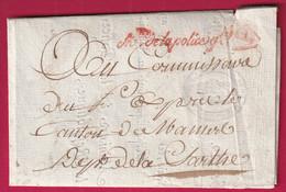 MARQUE FRANCHISE MINISTRE DE LA POLICE GENERAL PARIS AN5 1797 TEXTE IMPRIME SIGNE COCHON POUR MAMERS SARTHE - 1801-1848: Voorlopers XIX