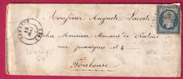 N°15 PC 1688 LEMBEYE BASSES PYRENEES POUR TOULOUSE - 1849-1876: Klassieke Periode