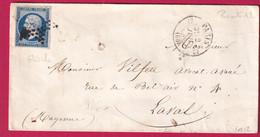 N°14 PARIS ETOILE PLEINE ROUTE N°12 POUR LAVAL MAYENNE INDICE 12 - 1849-1876: Klassieke Periode