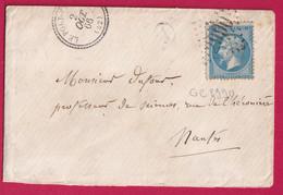 N°22 GC 2990 LE PORT ST PERE LOIRE INFERIEURE CAD TYPE 22 POUR NANTES INDICE 12 - 1849-1876: Klassieke Periode