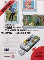 Publicité Papier FROMAGE KIRI TINTIN ET LES PICAROS CASTAFIORE 1976 SP1053759 - Werbung