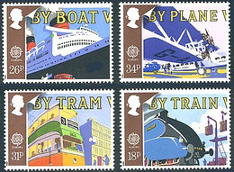 Angleterre Great Britain 1988 HP-45 Imperial Airways, Train, Boat, Bus (YT 1311, Mi 1147, St Gibbons 1392, Scott 1213) - Airplanes
