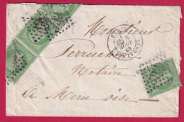 N°20 X4 GC 3921 PARIS LES TERNES POUR MERU OISE 1869 - 1849-1876: Klassieke Periode