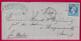N°22 GC 450 BERNAVILLE SOMME OR CANDAS POUR MOYENCOURT 1867 - 1849-1876: Klassieke Periode