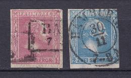 Preussen - 1859 - Michel Nr. 10/11 - Gestempelt - 30 Euro - Prusse