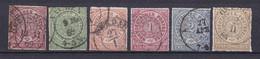 Norddeutscher Postbezirk - 1868 - Michel Nr. 1/6 - Gestempelt - 50 Euro - Conf. De L' All. Du Nord