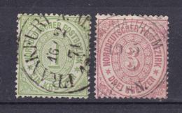 Norddeutscher Postbezirk - 1869 - Michel Nr. 19, 21 - Gestempelt - Conf. De L' All. Du Nord