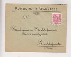AUSTRIA, 1912  CZECH REPUBLIC RUMBURG RUMBURK   Nice Cover RUMBURGER SPARKASSE - Brieven En Documenten