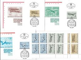 3111g: Österreich 1968, IFA- Flugpostausstellung FDCs Und Viererblocks ** - Airplanes